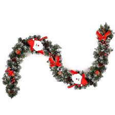 6ft thick garland with mixed berries