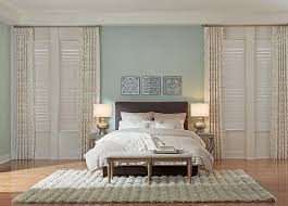 Plantation Shutters And Drapes Composite Shutters We Measure And Install Budget Blinds