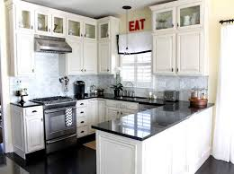 Small White Kitchen Designs Small Kitchen With White Cabinets Mesmerizing Ideas Small White