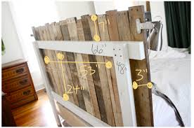 Headboard Made From Pallets Diy Pallet Headboard Creativity Pallets And Bedrooms