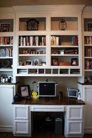 Creative Desk Ideas For Small Spaces Wall Units Stunning Built In Desk And Bookshelves Built In Desk