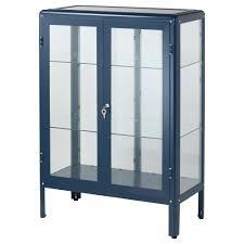 Ikea Fabrikor   fabrikör glass door cabinet black blue ikea