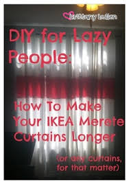 How To Make Curtains Longer Diy For Lazy People Make Ikea Merete Curtains Longer Brittany U0027s