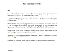 Barber Resume Example by Hair Stylist Cover Letter Http Resumesdesign Com Hair Stylist