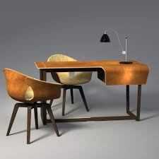 solid wood desk ash leather contemporary fred poltrona