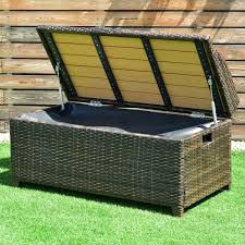 amazon com tangkula wicker deck box 50 gallon patio outdoor pool