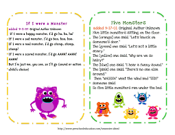 preschool printables free little monsters songs u0026 puppet sticks