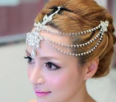 forehead headband 2018 clear dangle forehead headband tiara crown bridal