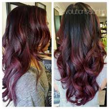 gorgeous black to maroon ombré hairrrr pinterest hair