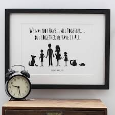 my family and other animals personalised print in mount by mimi