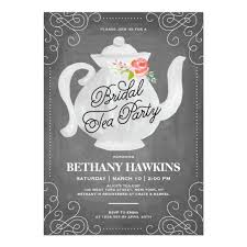 bridal tea party invitation bridal tea party bridal shower card zazzle