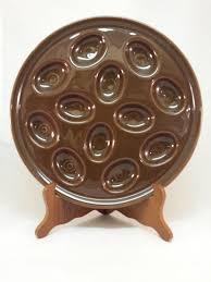 fiestaware egg plate egg plate or egg tray retired chocolate fiestaware 615 02