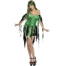 naughty witch costume ladies green naughty fairy witch halloween costume 32903