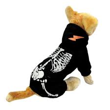 Dog Skeleton Halloween Dog Costume Luminous Skeleton Spooky Dogs Halloween