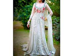 dress pic embroidered white net maxi dress price in pakistan m008589