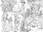 adam eve coloring pages free coloring pages