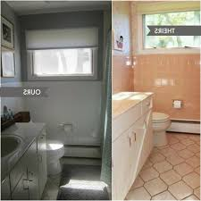 pink and grey bathroom as well as aluminium frame glass mirror
