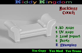 second life marketplace kk full perm backless couch