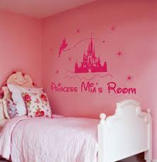 personalized princess castle wall art for girls