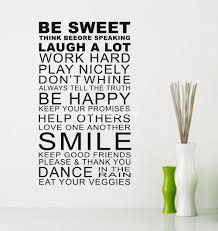 be sweet smile quote wall art stickers words home decor wall