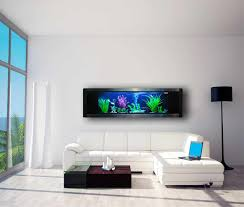 delightful wall aquarium decorating ideas at your living room