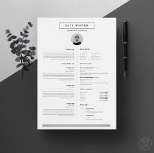 Resume And Cv Templates Minimal Resume Template For Word 1 U0026 2 Page Cv Template Icon Set