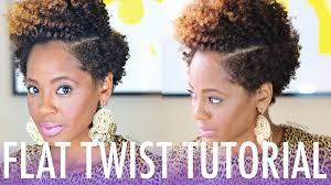 flat twist out tutorial for short natural hair