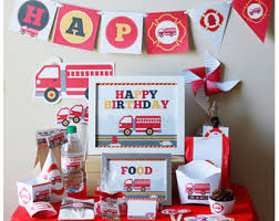 Fire Trucks Decorated For Christmas Fire Truck Birthday Etsy