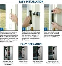 Installing Patio Door Patio Door Security Locks How To Install Sliding Glass Door Lock