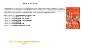 lord of the flies audiobook free