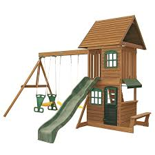 Big Backyard Swing Set Big Backyard Southbank Wooden Play Set Target Australia