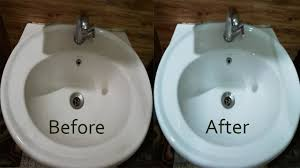 how to clean wash basin remove hard water stains naturally youtube