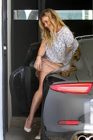 Short Skirts High Heels Hilary Duff Gets Herself Into A Tight Spot Literally In Short