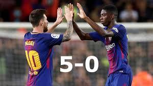 barcelona vs espanyol la liga 5 0 all goals u0026 highlights hd 09 09