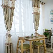 romantic light green floral shabby chic curtains
