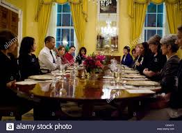 White House Dining Room President Obama Attends A Women U0027s Dinner With Staff In The Old