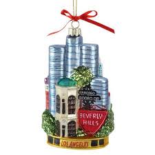 buy pack of 6 city of los angeles glass ornaments 5 5