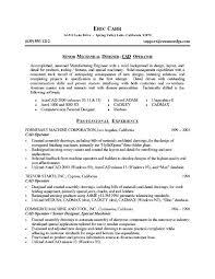 Senior Mechanical Engineer Sample Resume 2 Format Samples Chemical