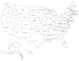 United States Map Without Labels by Big Media Vandalism January 2013