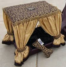 Pet Canopy Bed Black Chagne Cabana Couture Pet Canopy Bed Beds Pet Beds