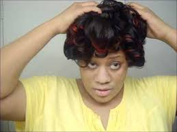 roller wrap hairstyle how to roller wrap your hair youtube