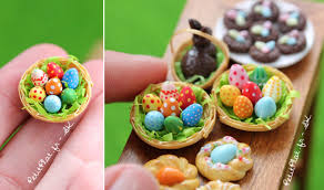 easter fimo decorations miniature petitplat creations stylefrizz