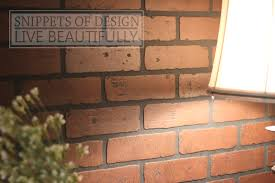 How To Paint A Faux Brick Wall - snippets of design diy brick wall really it was so easy