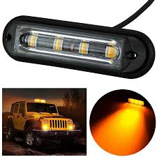 use of amber lights on vehicles 4 led light bar beacon vehicle grill strobe light emergency warning