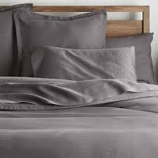 lino ii dark grey linen duvet covers and pillow shams made of high