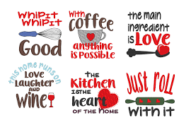 cooking quotes machine embroidery designs 4x4 instant download this is a digital file