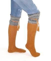 tahoe tassel boho boot socks gray whiskey slouch top over the