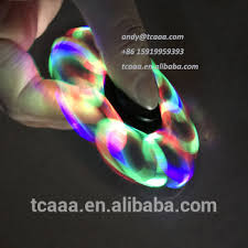 a light up fidget spinner tri fidget spinner toy led light up hand spinners with 608 ceramic