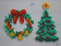 christmas tree and wreath hama perler beads by anja iris hama dk