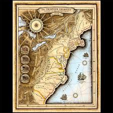 Thirteen Colonies Map Smith Map Studio Chula League Cherrywood Art Fair